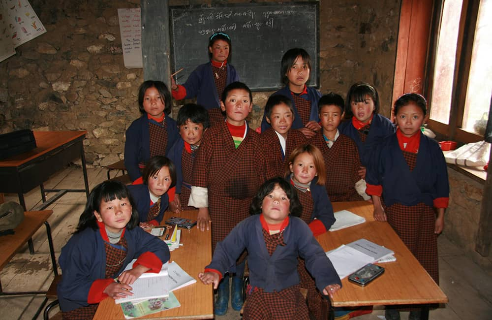 GHT Central Bhutan Kids at School in Lingshi