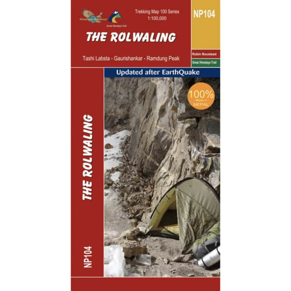GHT Rolwaling Map Cover