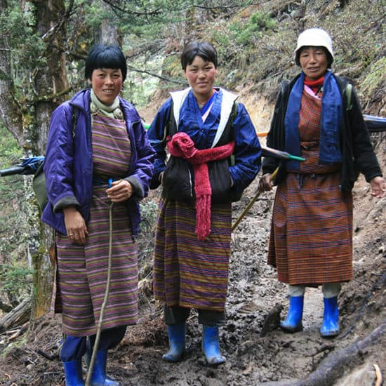 Locals from Bumthang in Bhutan