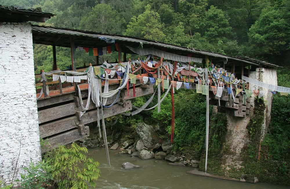 Bhutan Trek Traditional Bhutanese Bridge