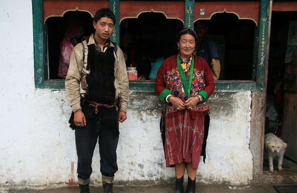 East Bhutan Trek Nomad couple from Metok