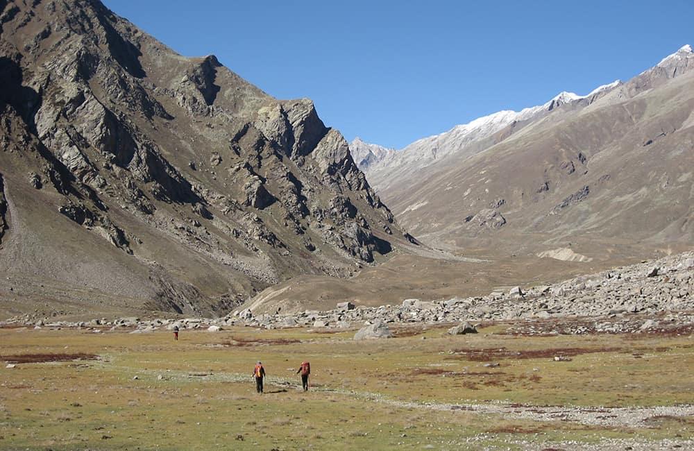 Kashmir and Ladakh approach to Kang La