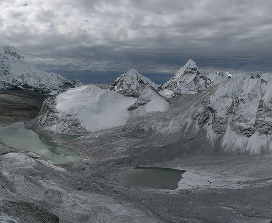 Great Himalaya Trail Amphu Labsta Pass view South