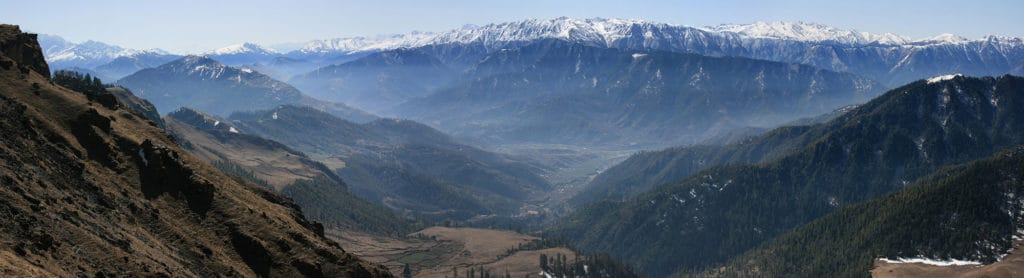 Dolpo and Far West Treks - Danphe Lekh above the gateway town of Jumla