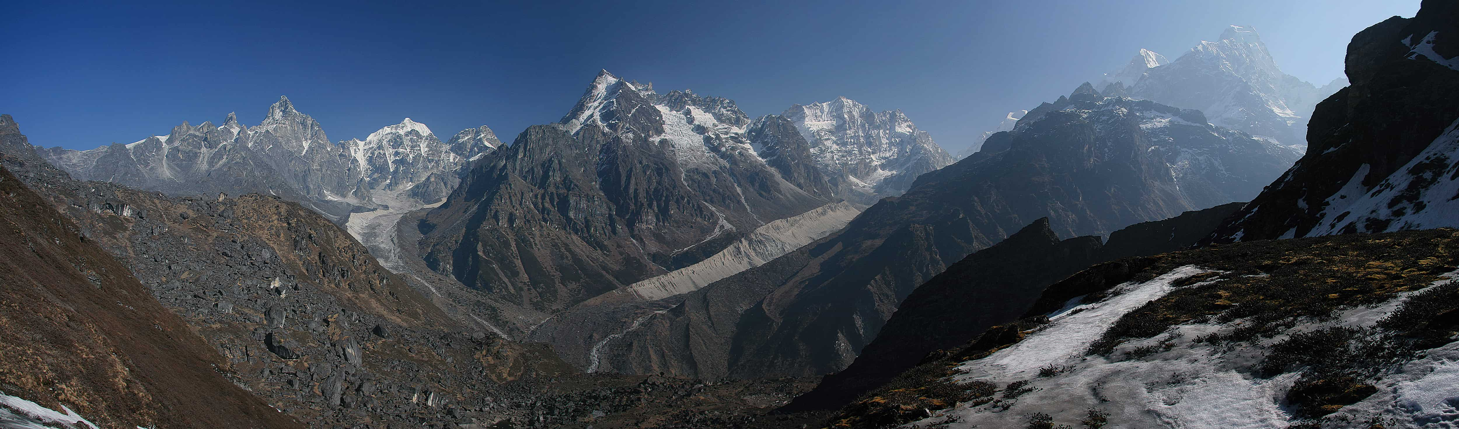 Langtang and Helambu Treks - View of Tilman and Tilman East approach from south