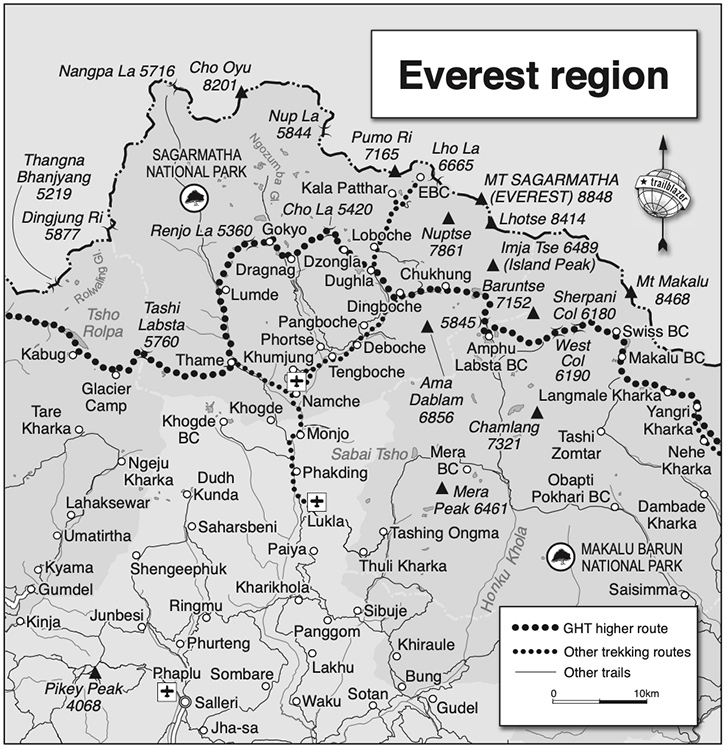 Everest Region Map