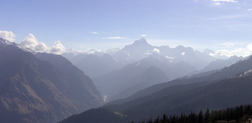Kumaon and Garwhal - Kuari Pass View