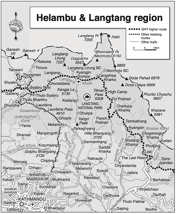 Langtang Valley Map
