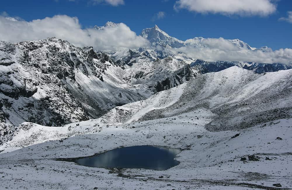 Kanchenjunga Lumbha Sambha Pass view of Jannu