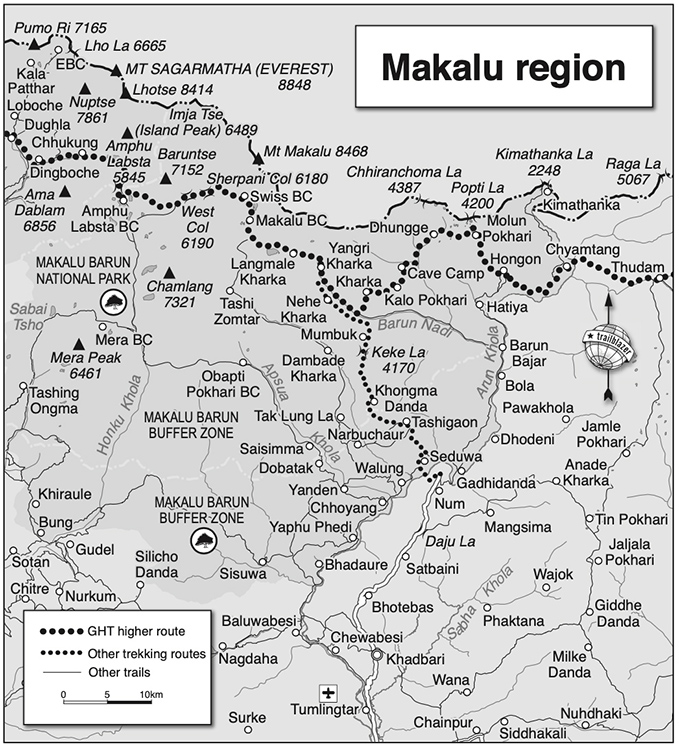 GHT Makalu Base Camp Region Map