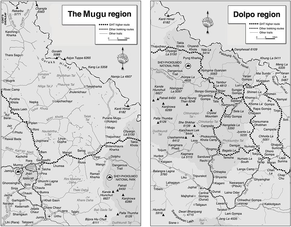Upper Dolpo and Mugu Map