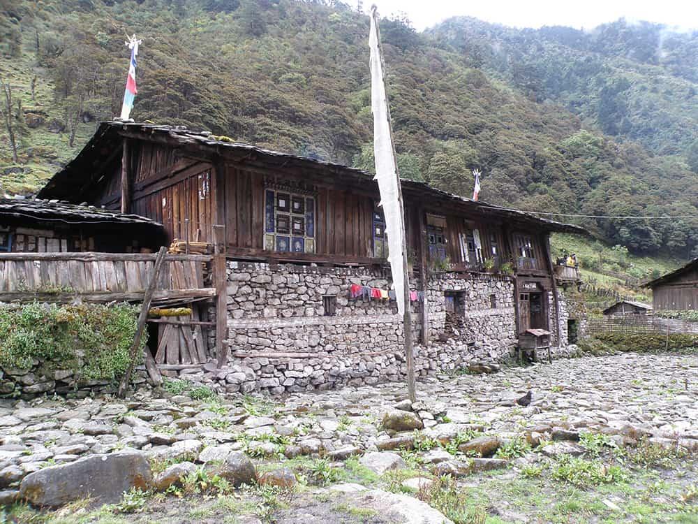 Kanchenjunga Base Camp Trek Olangchun Gola Typical Home