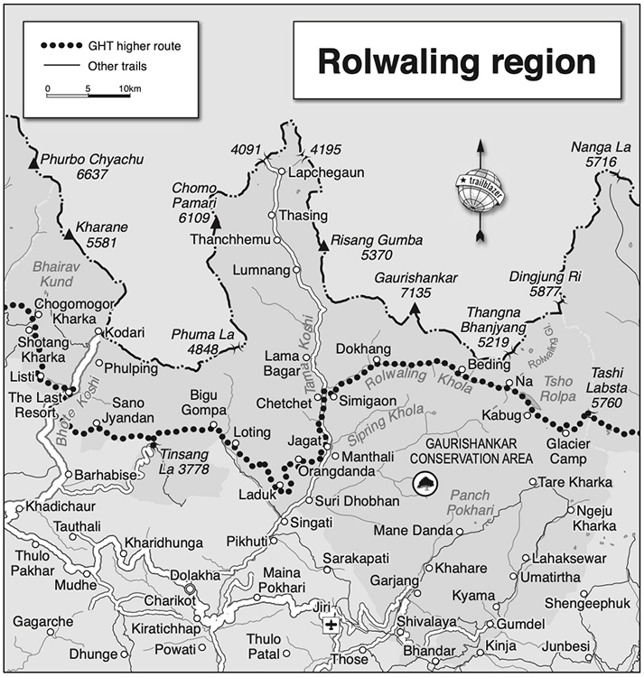 Ralwaling and Tashi Labsta Map