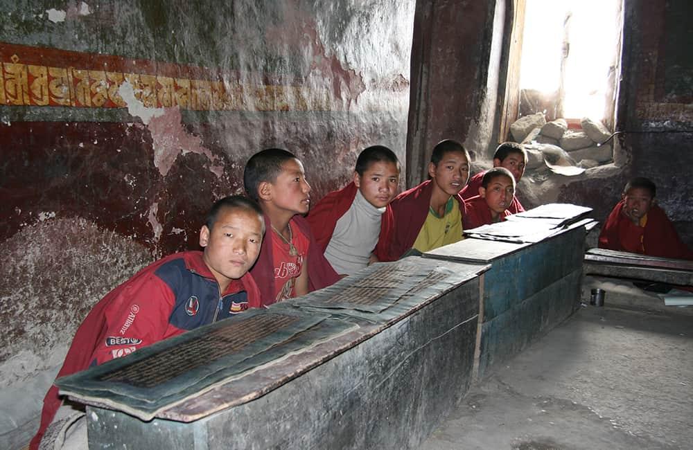Upper Mustang Circuit Buddhist monks Tsarang
