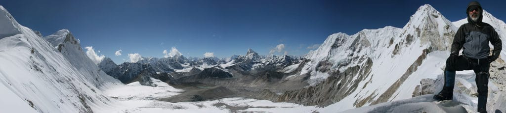 Honku Basin from West Col, Makalu High Passes Trail, Nepal