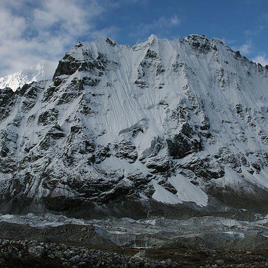 North face of Kanchenjunga Himal view from Pangpema (Kanchenjunga Base Camp)
