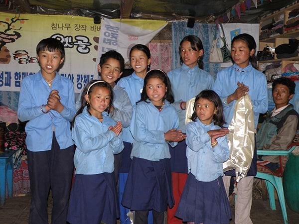Give Something Back School Kids Ghunsa Kanchenjunga Nepal