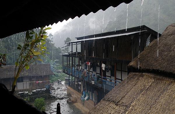 When to Trek Raining Nepal