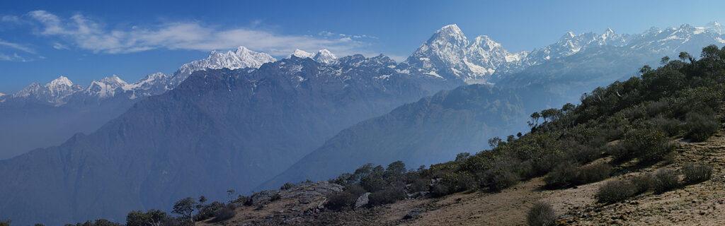 Langtang and Jugal Himal view from Chogormogor