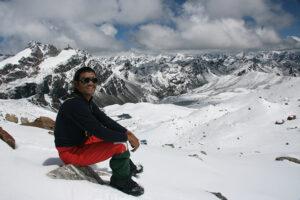 Rest break on the Lumbha Sambha