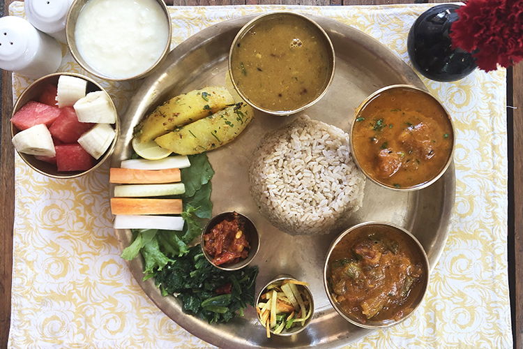 Nepal's national dish is dhal bhat
